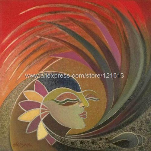 Woman Nature India Fine Art Oil Painting By Handmade Oil Paintings