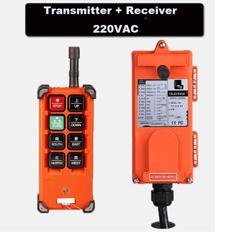 Quality Assurance 220VAC Industrial remote controller Hoist Crane Control Crane remote control 1 Transmitter + 1 Receiver high quality infrared receiver module ir remote controller