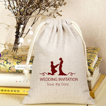 Cotton Linen Gift Bags 9x12cm(3.5″x4.75″) pack of 50