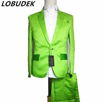 red green blue suit (jacket+pants) Neon blazer set multicolour suit set dj costume for singer dancer performance show bar stage - DISCOUNT ITEM  36% OFF All Category