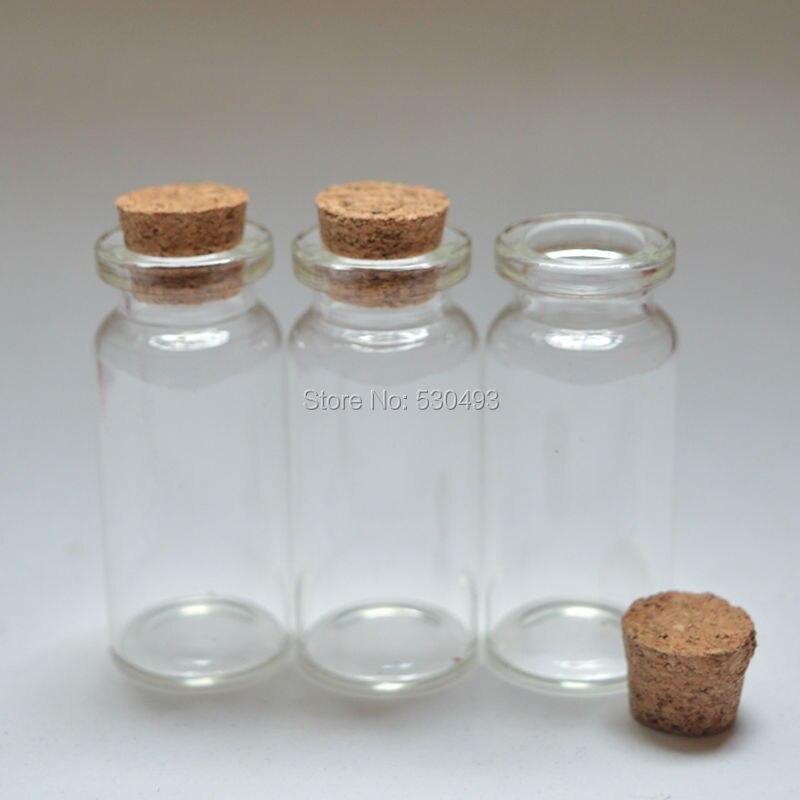 22*50mm vide mignon Message bouteille en verre Mini souhaitant bouteilles en verre bouchon de liège 10 ml flacons clairs 200 pcs/lot-in Trousses De Toilette from Beauté & Santé    3
