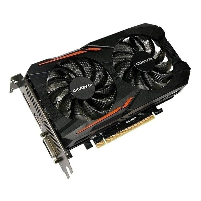 GIGABYTE Original GPU GTX 1050 2GB Video Card 128Bit GP107-300 Graphics Cards For NVIDIA Map Geforce GTX1050 2GB VGA HDMI PCI-E 2