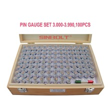 Sinbolt pin gauge /Plug Gauge Set,3.000mm--3.990mm,100pcs+Pin Handle,fast delivery!