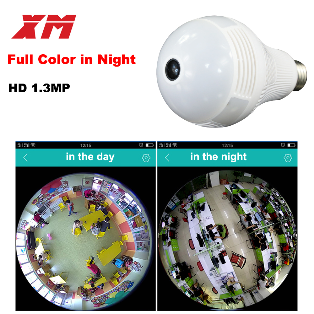 Image 2 - 360 Panoramin Smart Home Safty Wifi 960P VR Camera LED Bulb Security Camcorder Motion Detection CCTV Support PC Tablet Phonewifi 960pmotion detectionwifi home phone -