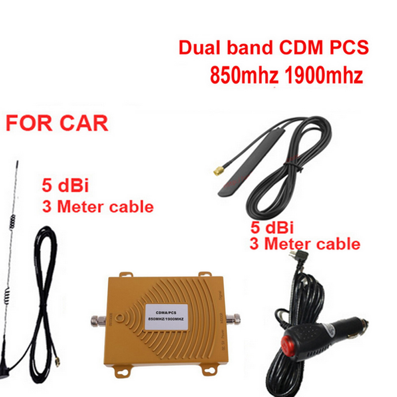 For USA Use Car Booster Dual Band Booster CDMA850Mhz PCS1900Mhz Booster Repeater,CMDA PCS Signal Repeater Vehicle Signal Booster