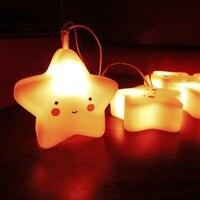 Makale 1.1 mMeters Işıkları LED Enerji tasarrufu PVC Karikatür Yıldız Twinkle Işık Pembe Yıldız Küçük Işıkları Serisi