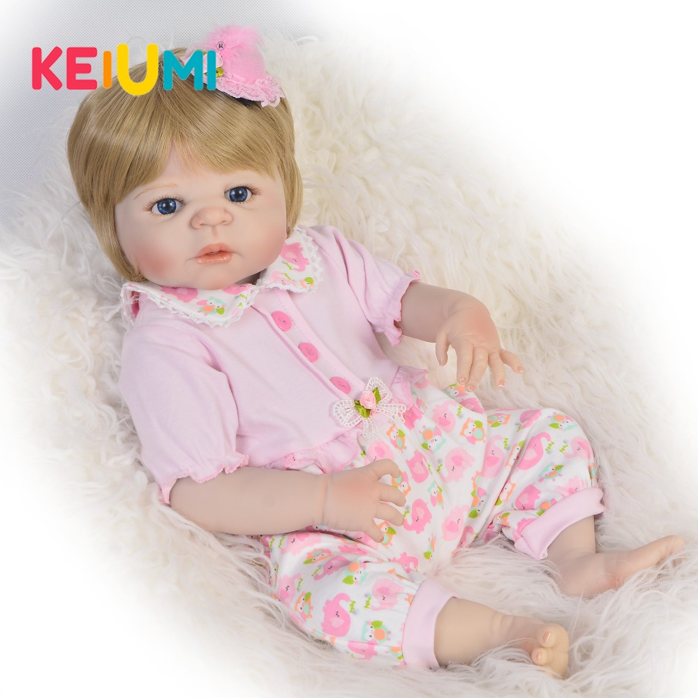 Cute 23 Reborn Baby Girl Toys Full Body Silicone Vinyl