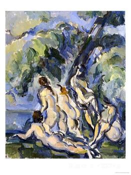 Paintings by Paul Cezanne Bathing Study for Les Grandes Baigneuses circa  wall art Hand painted High quality