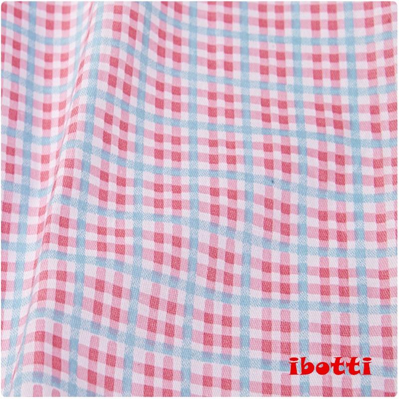 ibotti 4db / Lot 40 * 50cm Rózsaszín Virágos Plaid-sorozat 100% - Művészet, kézművesség és varrás - Fénykép 3