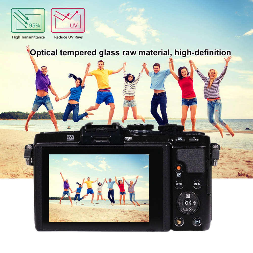 YCDC For Olympus LCD Guard Film For Olympus E-M10/EM1/EP5 2.5D 0.3mm Curved Edges Film Camera Screen Protector For OLYMPUS