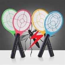 Легкая портативная электрическая теннисная ракетка от комаров с питанием от батареи электрическая ловушка для комаров для домашнего использования дропшиппинг