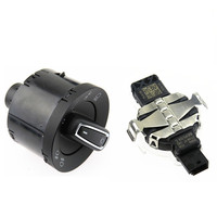 SCJYRXS Car Rain Sensor + Chrome Automatic Headlight Switch With For Golf 7 MK7 5GG 941 431D 8U0 955 559 C 5GG 941 431 D