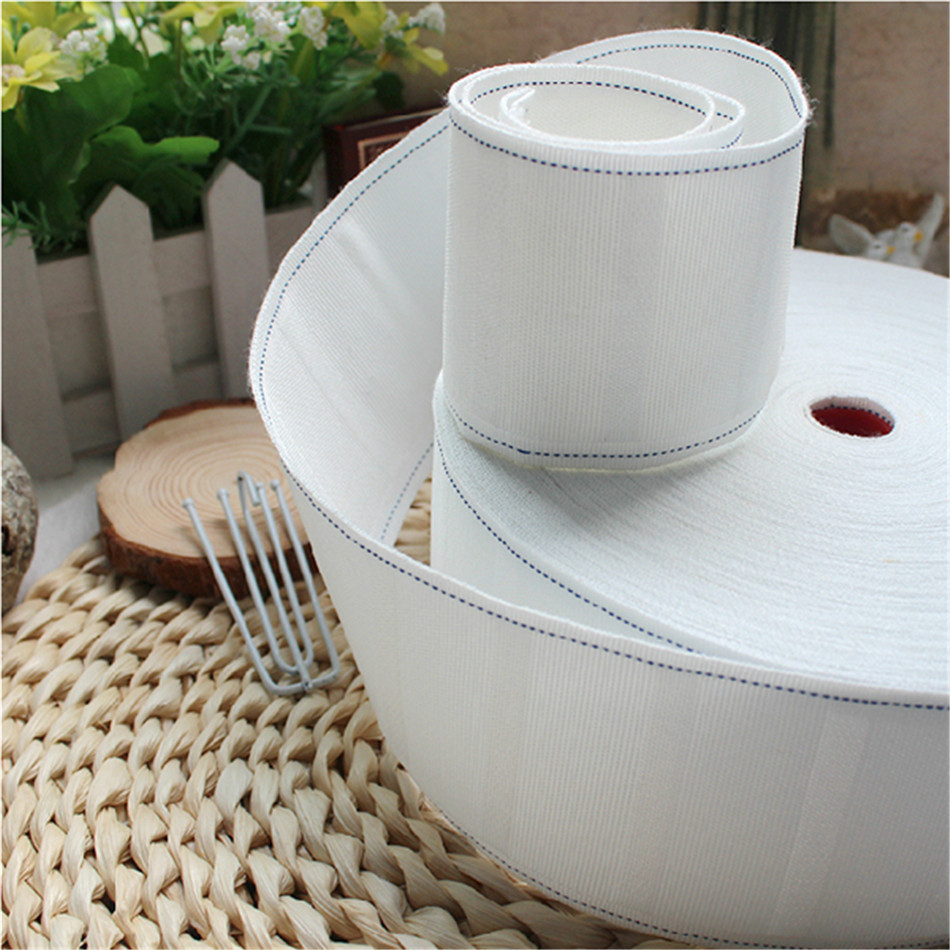 10 Meter A Lot White Color Thickening Cloth Curtain Tape Curtain Accessories For Hook