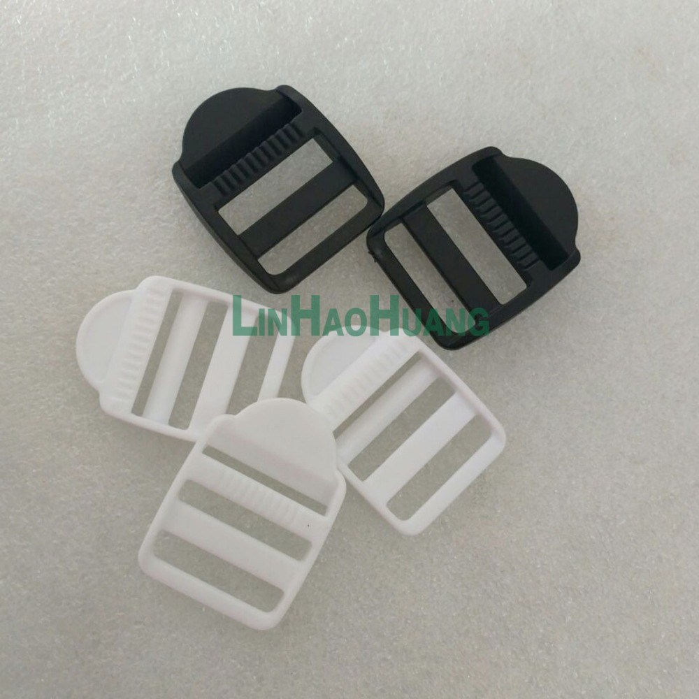White Free Shipping 2017112201 Without Return Arts,crafts & Sewing 50pcs/lot 26mm 1 Inch Pom Adjustable Buckles Plastic Ladder Buckle Luggage Backpack Staps Black Home & Garden