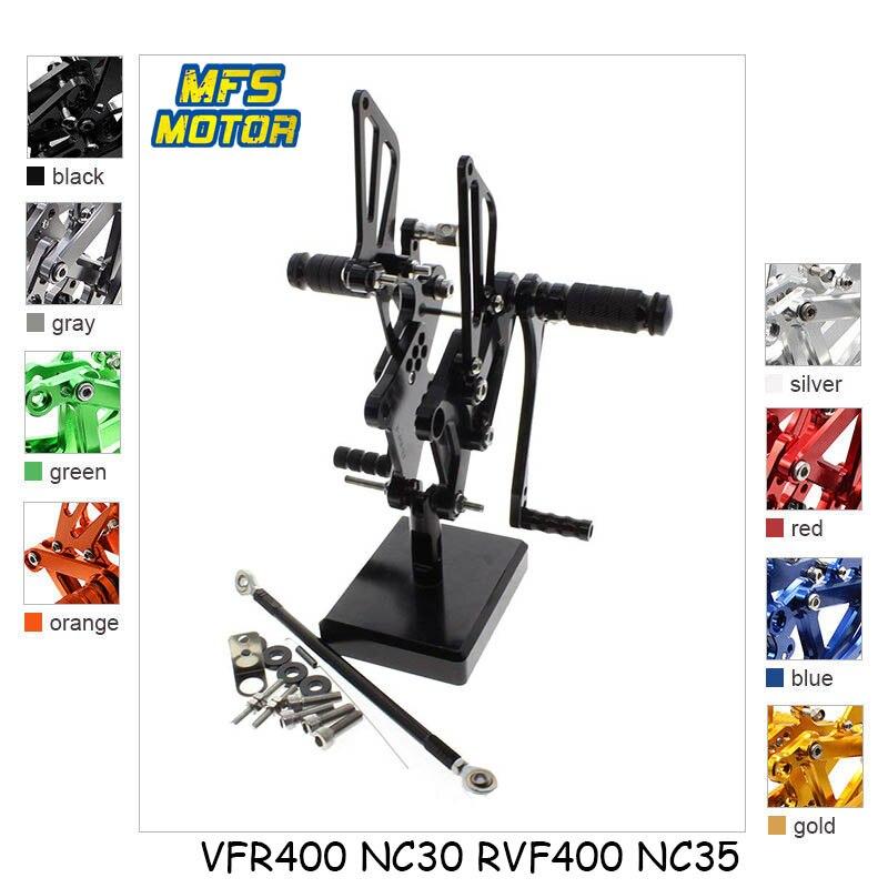 Здесь можно купить  For Honda VFR400 NC30 RVF400 NC35 CNC Adjustable Rearset Motorcycle Accessories Foot Rest Foot Pegs Footrests  Автомобили и Мотоциклы