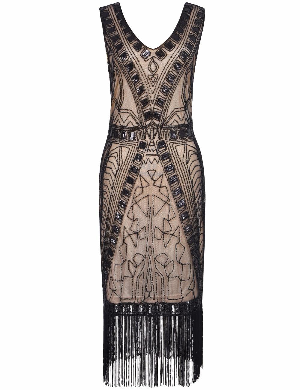 PrettyGuide Frauen 1920 s Flapper Kleid Art Deco Pailletten ...
