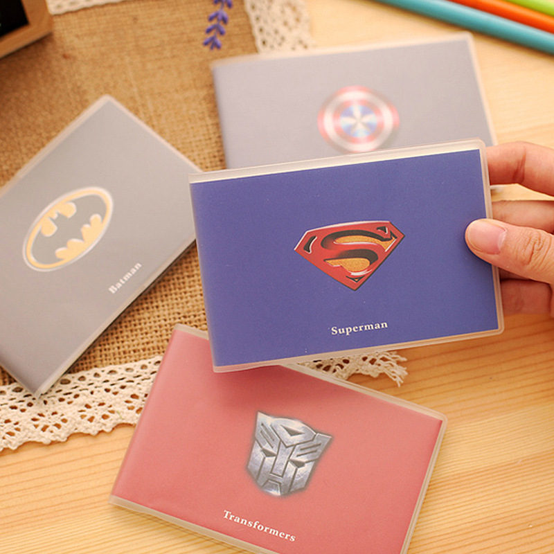 Super Hero Series Mini Notebook PVC Cover For Kids Cute Blank  Paper Portable Notepad Kawaii Stationery Office School