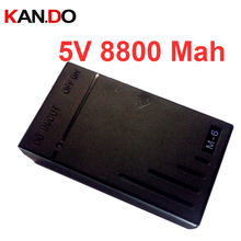8pcs,capacity 8800 Mah CE ROHS DC 5V lithium battery pack,with 1A charger high volume CCTV camera lithium battery smart power