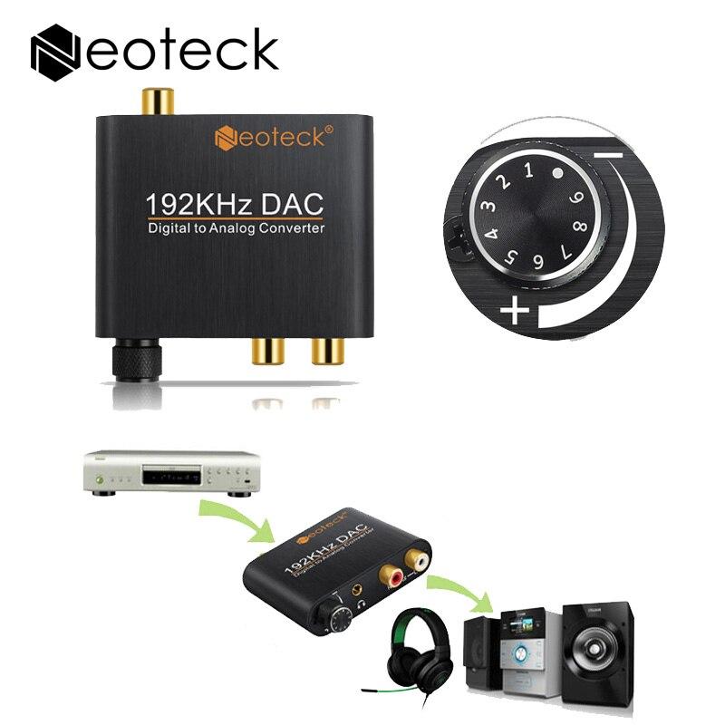 Digital Analog Audiokonverter Adapter Optic Koaxial Toslink Signal Analog Rca-konverter DAC Mit Lautstärkeregler Adapter