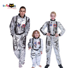 Men Astronaut Alien Spaceman Cosplay Carnival Party Adult Women Pilots Outfits Halloween Costumes Group Family Matching Clothes(China)