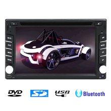 Car Radio 2 Din Car DVD Player 6.2 inch BT Bluetooth DVD CD Player Mic MP3 MP4 Player USB SD In Dash Headunit Car PC No-TV GPSvw
