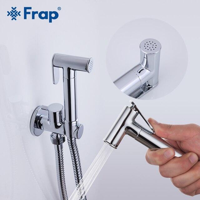 FRAP בידה ברז כרום אסלת מים מקלחת זרבובית חדרי אמבטיה בידה ברז תרסיס מוסלמי מקלחת בידה זרבובית מרסס