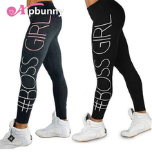 AipBuuny 'BOSEE GIRL' Printed lulu Yoga Pants Push up Hips Breathable Fast Cool Dry Women's Jogging Hiking Running Leggings(China)