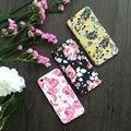 Móvil de la manera case flor patrón 360 grados proteger plena teléfono case con vidrio templado para el iphone 5,6, 6 s, 6, más 7,7 más cubierta