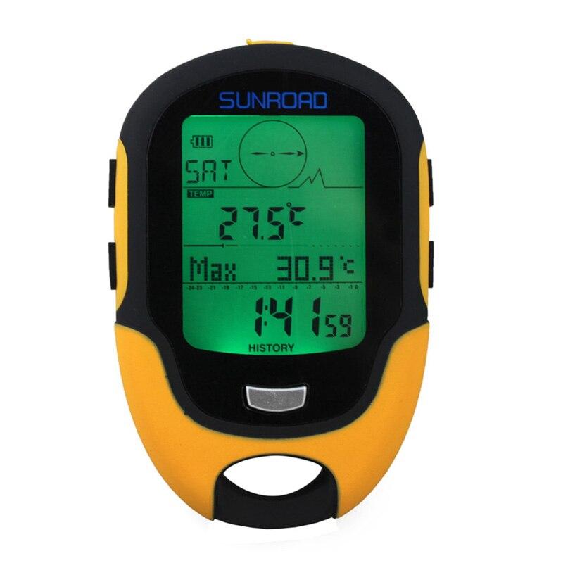 Водонепроницаемый Многофункциональный альтиметр FR500 с ЖК-дисплеем, Цифровой Барометр с компасом, портативный альтиметр для кемпинга, пешег...