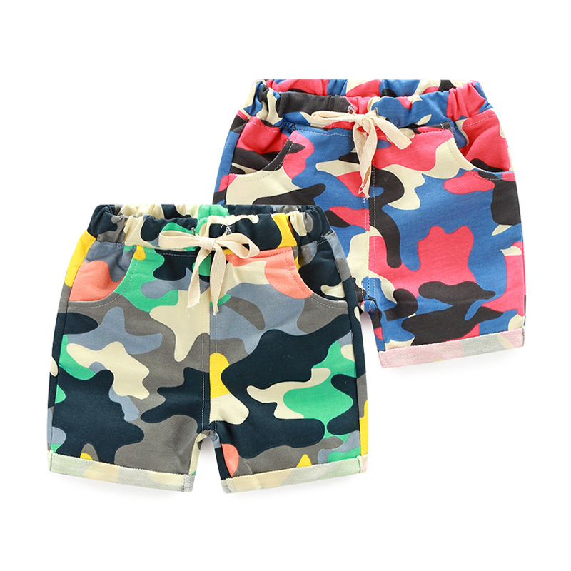 2017 Sommer Kinder Kurze Hosen Baby Camouflage Harem Hosen Jungen Mädchen Lose Armee Camo Shorts Kinder Kleidung Kühl Kleidung