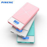 Pineng Power Bank 10000mAh PN 983 Mobile Fast Charger Dual USB LED External Battery For IPhone