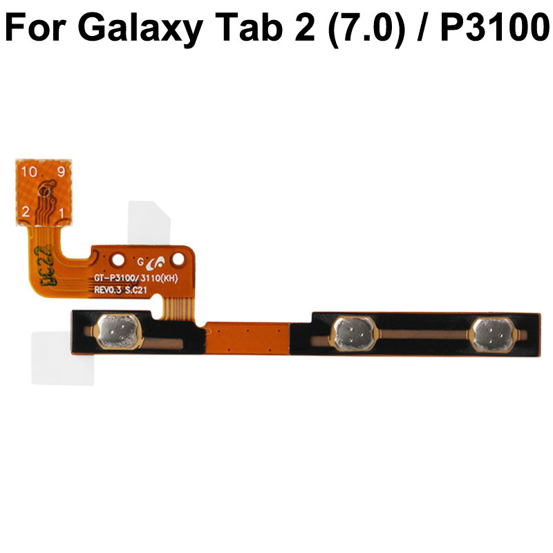 High Quality  Power Button Volume Flex Cable Parts Replacement For SAMSUNG Galaxy Tab 2 (7.0) / P3100