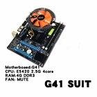 G41 Desktop PC Main Board LGA771 Quad-core E5420 Combo Set 2.50G CPU + 4G Memory + Silent Fan Computer Motherboard Supplies
