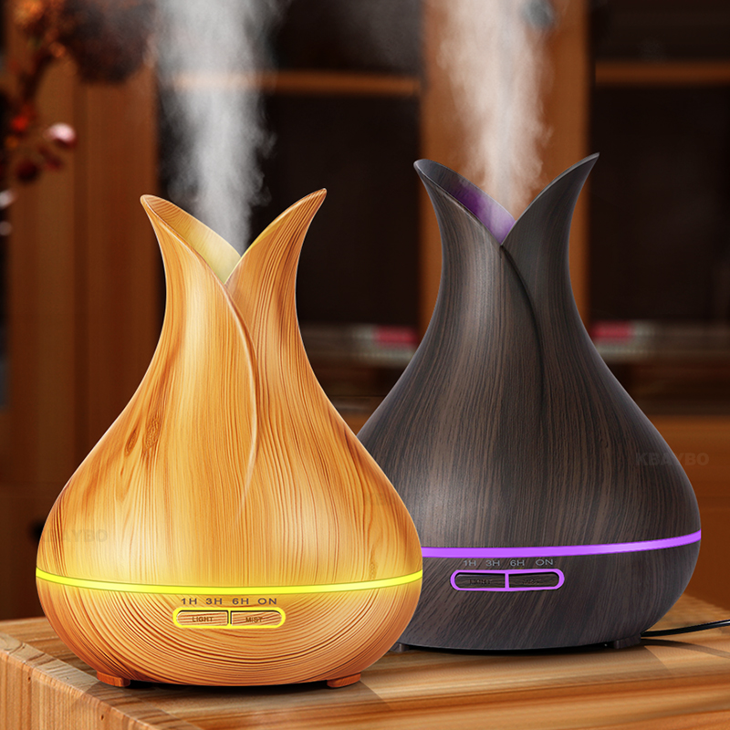 Ultrasonic Humidifier Aroma Essential Oil Diffuser Wood Grain Cool Mist Humidifier Aromatherapy Diffuser With 7 Color LED Ultrasonic Humidifier Aroma Essential Oil Diffuser Wood Grain Cool Mist Humidifier Aromatherapy Diffuser With 7 Color LED