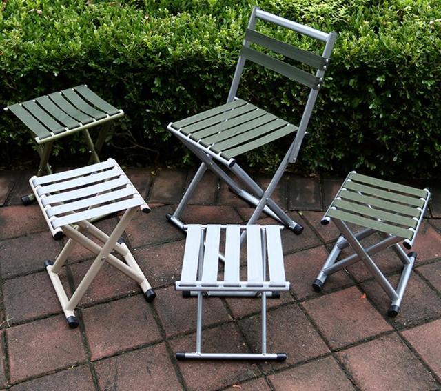 Folding fezes Mazza espessamento ao ar livre cadeira de pesca cadeira de encosto militar, Maha de bancada portátil acampamento ao ar livre churrasco necessário
