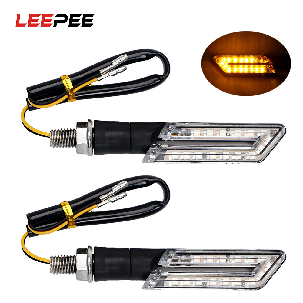 2PCS LED Motorcycle Turn Signal Lights Amber Lamps Moto Turn Indicators For Honda Suzuki Motorcycle Blinker Scooter Refit