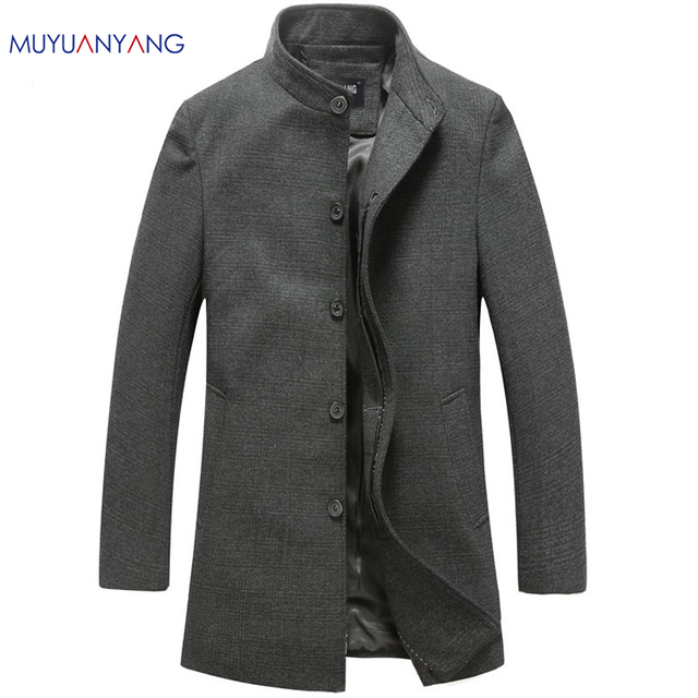 Men's Wool Jackets Spring Autumn Brand Men Woolen Coats Middle ...