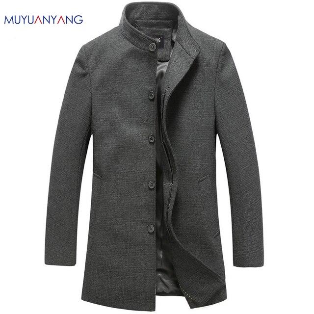 Mu Yuan Yang мужские шерстяные куртки большого размера осенние мужские шерстяные пальто Средние Длинные куртки и пальто мужские s Шерсть и смеси пальто