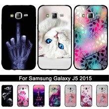 Capa de silicone para samsung galaxy j5 2015 tpu macio capa para samsung j5 2015 j500 j500f j500h 3d alívio impresso conchas sacos
