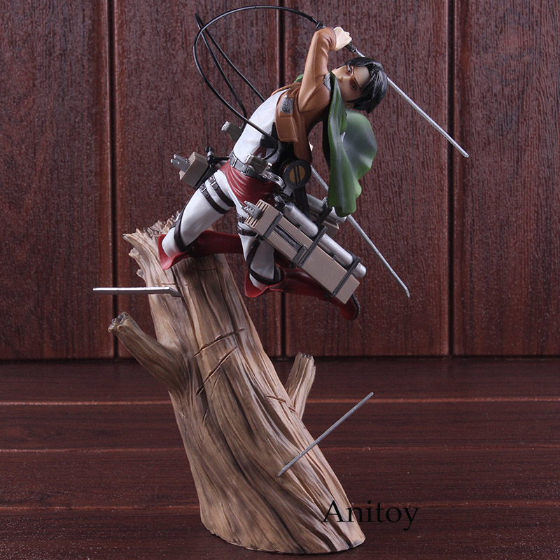 Kotobukiya ARTFX J Attack on Titan Figure Levi Rivaille Ackerman 1/8 Scale Pre-painted Figure Action PVC Collectible Model Toy цена 2017