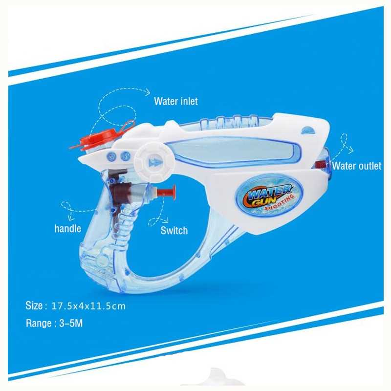 Воды Пистолеты Для детей, на лето пляжные Игрушечные лошадки Спорт на открытом воздухе игры Ванная комната Игрушечные лошадки детей воды пушка Стрельба пистолет игрушка