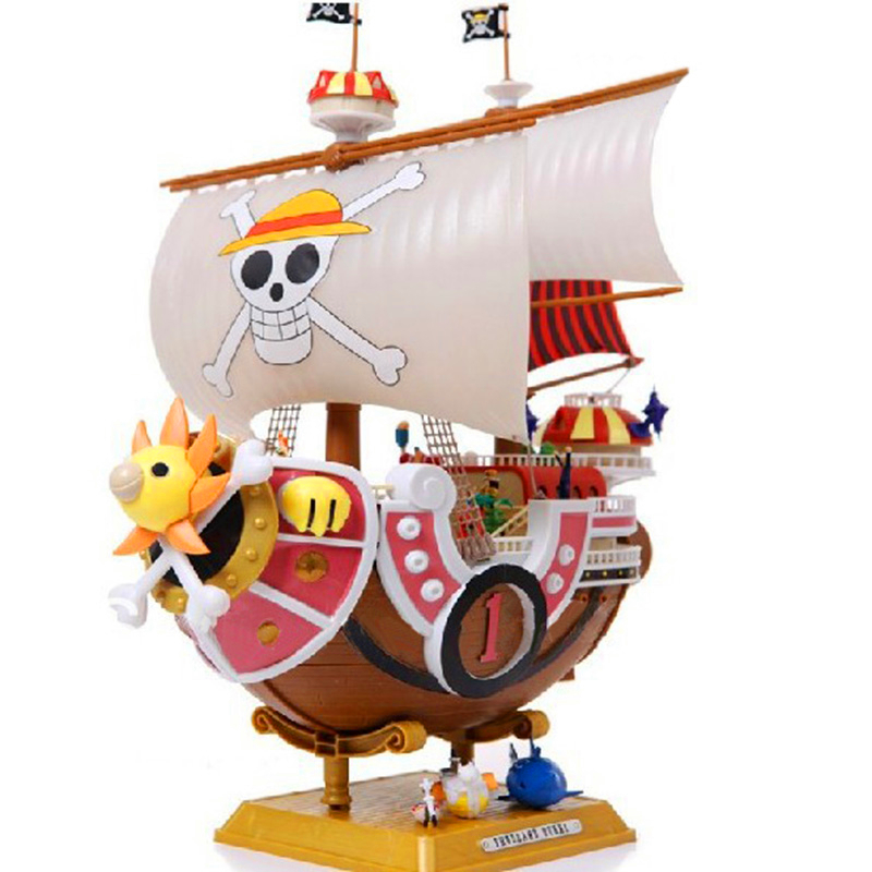 ФОТО Anime One Piece Thousand Sunny Pirate ship Model PVC Action Figure Collectible Toy 35CM F64