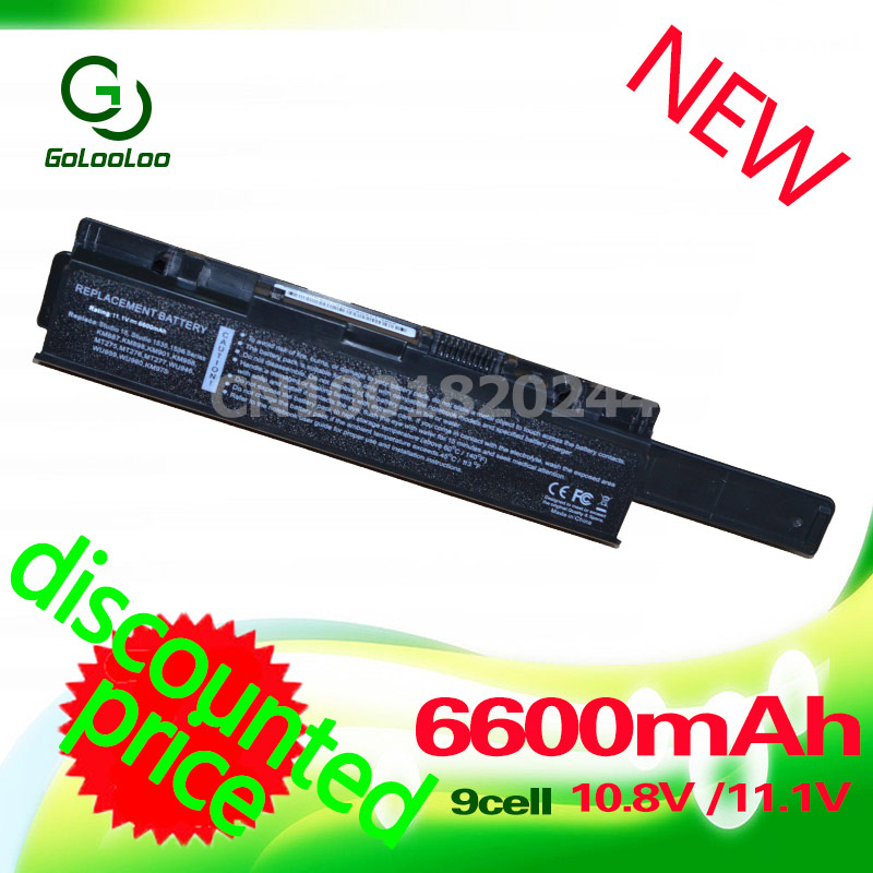 Golooloo 9 cell Laptop Battery For Dell Studio 1535 1536 1537 1555 1558 1557 for dell KM958 KM965 MT264 WU946 312-0701 312-0702 golooloo battery for dell inspiron 1525 1526 1545 1546 312 0626 312 0634 312 0633 312 0763 312 0844 451 10534 c601h cr693