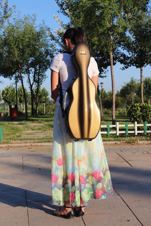 Violin Case Mixed Carbon Fiber Adjustable Size Violin case brown color