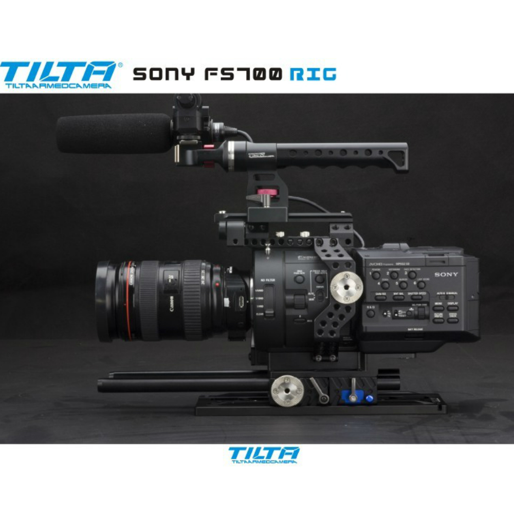 Tilta 15mm Rig for Sony FS700 camera 15mm rod camera support rig Baseplate Cage Free shipping free shipping ptfe stir rod for overhead stirrer