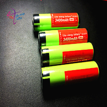 4 PCS/lot New Protected Original Rechargeable battery 18650 NCR18650B 3400mah with PCB 3.7V For Panasonic Free Shipping