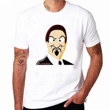 bdedbab8e866a Sr Presidente Emoji Camiseta Legal Engraçado Homem Tshirts Harajuku Topos  de Verão Plus Size Camisa Branca de Manga Curta Camisa.