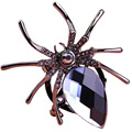 Black Spider Glasses Large Wedding Jewelry Brooches Crystal Scarf Clips Hijab Pins Up Broches Brand Designer Insects Broaches