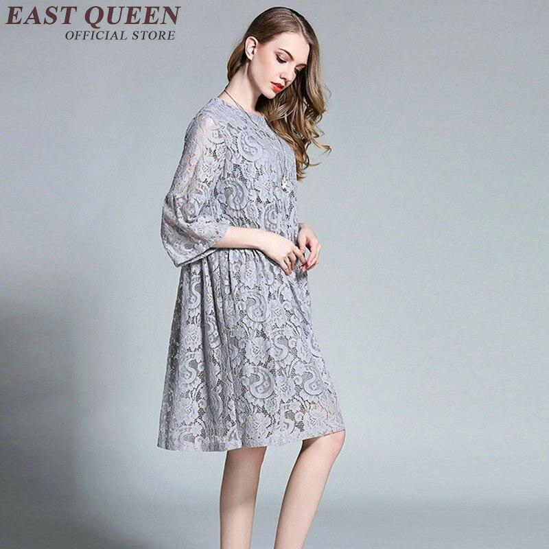 273ced098 Tamanho grande vestidos de renda túnica mulheres tamanho grande estilo  verão roupas femininas tamanho grande vestido de verão tamanho grande KK878  H em ...