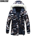 Long Camouflage Jacket Women/Men 2016 New Winter Camo Thicken Slim Fit Coat Parka Men Wool Hat Design Jackets Mens Clothes S-5XL